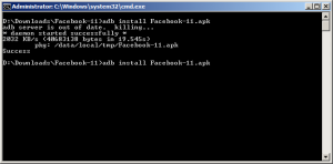 Facebook installed on Android emulator