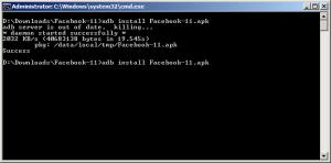 Facebook installed on Android emulator
