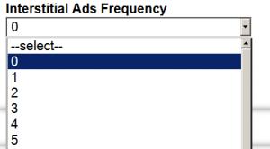 admob, interstitial ads