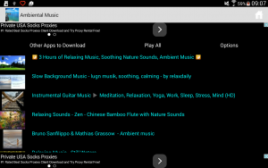 The first, the playlist screen of Ambient Musid New app