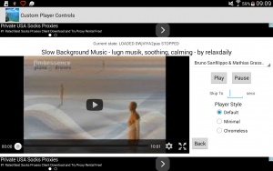 The default style of the video player offers the possibility to play the video full screen.