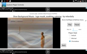 The chromeless style of video player.